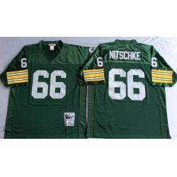 Men Green Bay Green Bay Packers 66 Ray Nitschke Green M&N Throwback Jersey