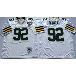 Men Green Bay Green Bay Packers 92 Reggie White M&N Throwback Jersey