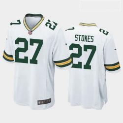 Men Green Bay Packers Eric Stokes White Green 2021 Draft Jersey