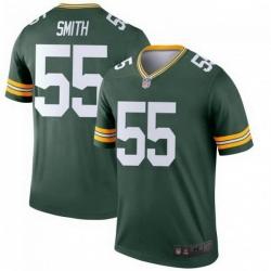Men Nike Green Bay Packers 55 Za'Darius Smith Green Colour Rush Limited Jersey