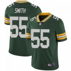 Men Nike Green Bay Packers 55 Za'Darius Smith Green Vapor Limited Jersey