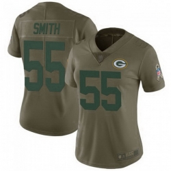 Women Nike Green Bay Packers 55 Za'Darius Smith 2017 Salute To Service Limited Jersey