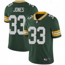 Youth Nike Green Bay Packers 33 Aaron Jones Green Vapor Limited Jersey