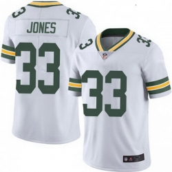 Youth Nike Green Bay Packers 33 Aaron Jones White Vapor Limited Jersey