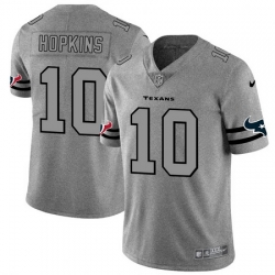 Nike Texans 10 DeAndre Hopkins 2019 Gray Gridiron Gray Vapor Untouchable Limited Jersey