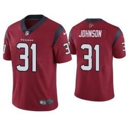 Nike Texans 31 David Johnson Red Vapor Untouchable Limited Jersey