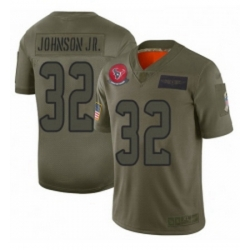 Womens Houston Texans 32 Lonnie Johnson Limited Camo 2019 Salute to Service Football Jersey