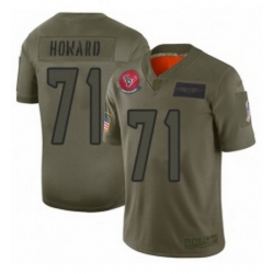Womens Houston Texans 71 Tytus Howard Limited Camo 2019 Salute to Service Football Jersey