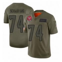 Womens Houston Texans 74 Max Scharping Limited Camo 2019 Salute to Service Football Jersey