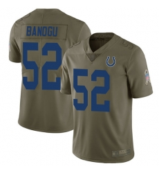 Colts 52 Ben Banogu Olive Men Stitched Football Limited 2017 Salute To Service Jersey