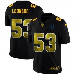 Indianapolis Colts 53 Darius Leonard Men Black Nike Golden Sequin Vapor Limited NFL Jersey