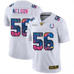 Indianapolis Colts 56 Quenton Nelson Men White Nike Multi Color 2020 NFL Crucial Catch Limited NFL Jersey