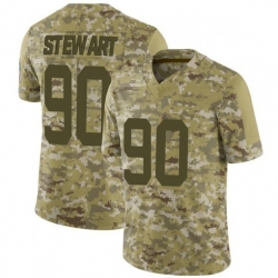 Men Indianapolis Colts Grover Stewart 90 2018 Salute To Service NFL Limited Jersey
