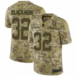 Men Indianapolis Colts Julian Blackmon 2018 Salute to Service Jersey Camo Limited