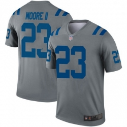 Men Indianapolis Colts Kenny Moore II Legend Jersey Grey