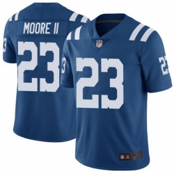 Men Indianapolis Colts Kenny Moore II Limited Color Rush Vapor Untouchable Jersey Royal