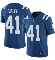 Men Nike Colts #41 Matthias Farley Royal Blue Team Color Stitched NFL Vapor Untouchable Limited Jersey