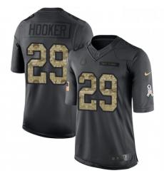 Men Nike Indianapolis Colts 29 Malik Hooker Limited Black 2016 Salute to Service NFL Jersey