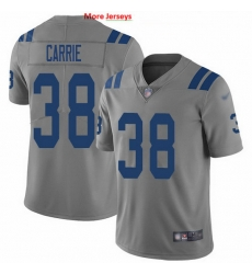 Nike Colts 38 T J  Carrie Gray Men Stitched NFL Limited Inverted Legend Jersey
