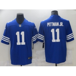 Nike Indianapolis Colts 11 Michael Pittman JR Royal Vapor Untouchable Limited Jersey