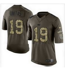 Nike Indianapolis Colts #19 Johnny Unitas Green Mens Stitched NFL Limited Salute To Service Jersey