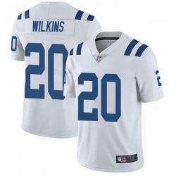 Nike Indianapolis Colts 20 Jordan Wilkins White Vapor Untouchable Limited Jersey