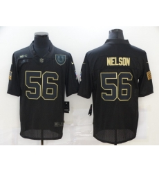 Nike Indianapolis Colts 56 Quenton Nelson Black 2020 Salute To Service Limited Jersey