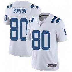Nike Indianapolis Colts 80 Trey Burton White Vapor Untouchable Limited Jersey
