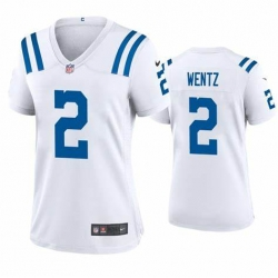 Women Indianapolis Colts Carson Wentz 2 White Vapor Limited Jersey