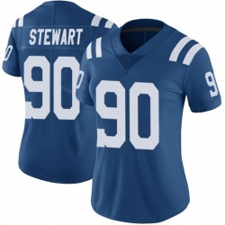 Women Indianapolis Colts Grover Stewart 90 Blue Vapor NFL Limited Jersey