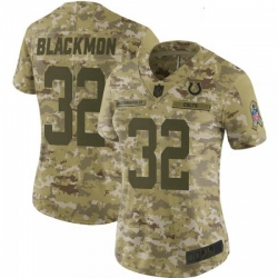Women Indianapolis Colts Julian Blackmon 2018 Salute to Service Jersey Camo Limited