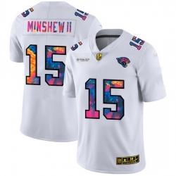 Jacksonville Jaguars 15 Gardner Minshew II Men White Nike Multi Color 2020 NFL Crucial Catch Limited NFL Jersey