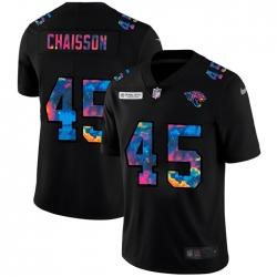 Jacksonville Jaguars 45 K 27Lavon Chaisson Men Nike Multi Color Black 2020 NFL Crucial Catch Vapor Untouchable Limited Jersey