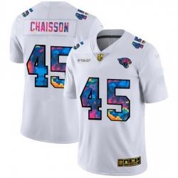 Jacksonville Jaguars 45 K 27Lavon Chaisson Men White Nike Multi Color 2020 NFL Crucial Catch Limited NFL Jersey