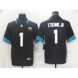 Men Jacksonville Jaguars 1 Travis Etienne Jr Black 2021 Vapor Untouchable Stitched NFL Nike Limited Jersey