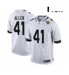 Men Jacksonville Jaguars 41 Josh Allen Game White Football Jersey