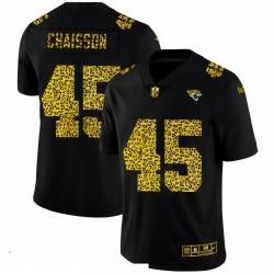 Men Jacksonville Jaguars 45 K 27Lavon Chaisson Men Nike Leopard Print Fashion Vapor Limited NFL Jersey Black