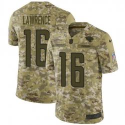 Nike Jacksonville Jaguars 16 Trevor Lawrence Camo Men Stitched NFL Limited 2018 Salute To Service Jersey