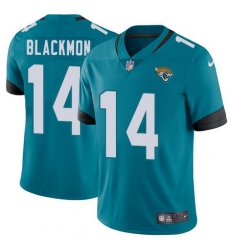 Nike Jaguars #14 Justin Blackmon Teal Green Team Color Mens Stitched NFL Vapor Untouchable Limited Jersey