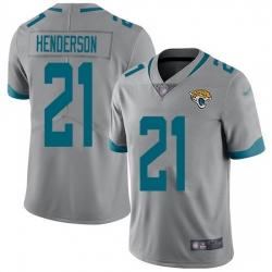 Nike Jaguars 21 C J  Henderson Silver Men Stitched NFL Limited Inverted Legend Jersey
