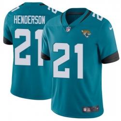 Nike Jaguars 21 C J  Henderson Teal Green Alternate Men Stitched NFL Vapor Untouchable Limited Jersey