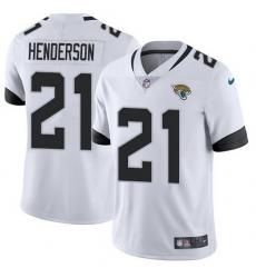Nike Jaguars 21 C J  Henderson White Men Stitched NFL Vapor Untouchable Limited Jersey