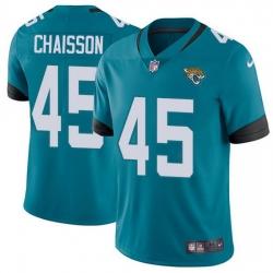 Nike Jaguars 45 K 27Lavon Chaisson Teal Green Alternate Men Stitched NFL Vapor Untouchable Limited Jersey