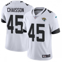 Nike Jaguars 45 K 27Lavon Chaisson White Men Stitched NFL Vapor Untouchable Limited Jersey