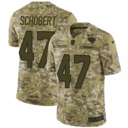 Nike Jaguars 47 Joe Schobert Camo Men Stitched NFL Limited 2018 Salute To Service Jersey
