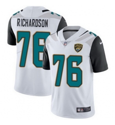 Nike Jaguars #76 Will Richardson White Mens Stitched NFL Vapor Untouchable Limited Jersey