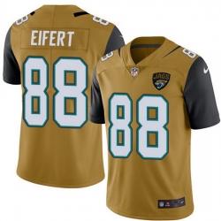 Nike Jaguars 88 Tyler Eifert Gold Men Stitched NFL Limited Rush Jersey