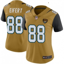 Women Nike Jaguars 88 Tyler Eifert Vapor Rush Limited Jersey Gold