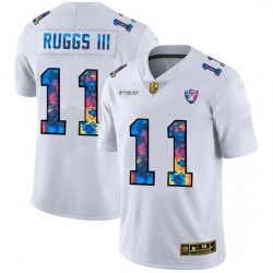 Las Vegas Raiders 11 Henry Ruggs III Men White Nike Multi Color 2020 NFL Crucial Catch Limited NFL Jersey