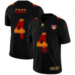Las Vegas Raiders 4 Derek Carr Men Black Nike Red Orange Stripe Vapor Limited NFL Jersey